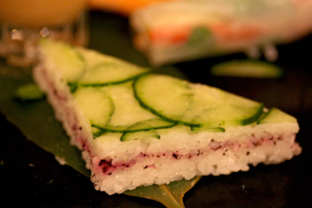 Pressed Rice Cucumber finger sandwich