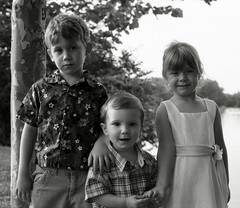 my son with cousins - by Ed from Ohio