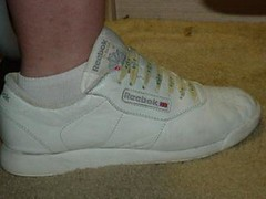 White Reebok Princess at work (Sneaker fan) Tags: white shoes princess sneaker reebok
