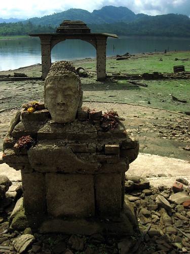 Still-venerated Buddha head