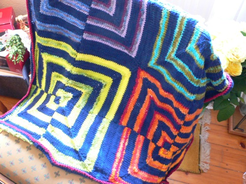 Rainbow Miters Baby Blanket