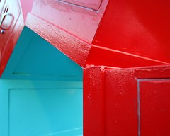 (~Mina~) Tags: blue red modern geometry turquoise shapes ct minimal stamford minimalism shape colorphotoaward