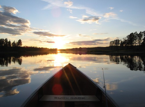 Canoeing into Sunset