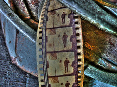salvaged filmstrip (joiseyshowaa) Tags: old west film museum movie key antique picture shipwreck keywest salvage cannister aplusphoto joiseyshowaa joiseyshowa