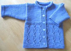 Blueberry Twist Baby Cardigan 2