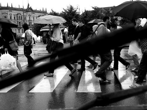 Rain. Traffic.