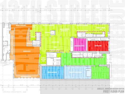 Sheila C. Johnson Design Center Floor Plans, Lyn Rice Architects