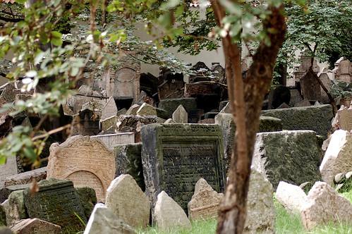 Crowded Jewish Cemetery