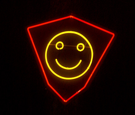 Neon Smiley Face at 2011