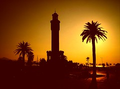 Clock Tower (Metin Canbalaban) Tags: trip travel sunset vacation holiday topf25 turkey topf50 photographer trkiye vivid excellent shield awards konak soe breathtaking ih dimensions excellence izmir gnbatm lokum turkie 35faves saatkulesi 25faves anawesomeshot superaplus aplusphoto superhearts theunforgettablepictures wonderfulphotosfortheworld metincanbalaban platinumheartawart saariysqualitypictures