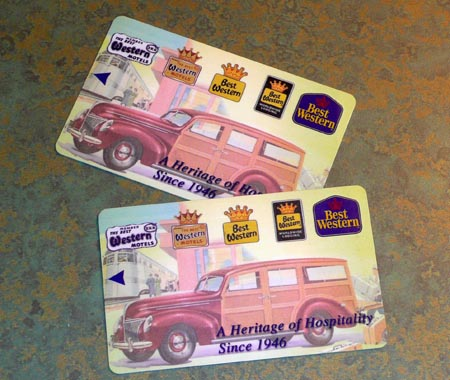 Keycards at Best Western Croswinds Motor Inn
