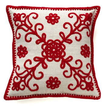romanian embroidered pillow