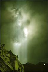 Skylight (Linus Gelber) Tags: nyc newyork night clouds lights memorial worldtradecenter 911 twintowers wtc sept11 september11 beams tributeinlight september11th customshouse remembering whitehallstreet 911memorial