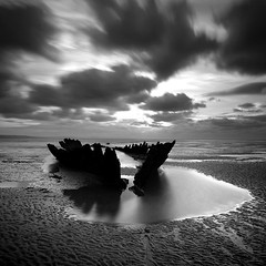 The Nornen I (Adam Clutterbuck) Tags: uk greatbritain england sky blackandwhite bw seascape beach pool monochrome clouds square landscape mono coast blackwhite sand ship mud cloudy unitedkingdom britain somerset bn severn coastal shipwreck shore elements pirate gb blogged bandw wreck sq limitededition barque perhaps greengage berrow nornen adamclutterbuck seacscape sqbw bwsq showinrecentset shortedition sunkbypirates le50 limitededition50