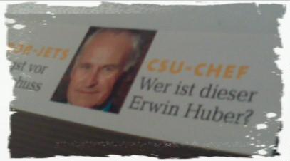 CSU-Chef - Wer ist dieser Erwin Huber? (Focus)