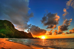 Tunnels Beach, Kauai (Kaldoon) Tags: ocean blue sunset sea wallpaper orange sun mountains color green beach nature yellow clouds america canon landscape island hawaii coast paradise surf waves sundown outdoor hula shoreline scenic beachlife surfing snorkeling pacificocean shore kauai bestbeaches 5d coastline relaxation sunrays goldensunset aloha isolated haena tunnelsbeach oceanwaves hawaiihoneymoon hawaiibeaches hawaiianwedding hawaiilandscape beachwallpaper beachbackground surfingbeach kauailandscape kadoon sunsetwallpaper kauaibeaches weddinginhawaii catchycolorsorangeblue 1635mmlii hawaiianlandscape kauaihoneymoon hawaiiwallpaper beachsunsetbackground haenakauai hawaiirentals kauairentals haenahawaii beachesinthesunsetathawaii weddinginkauai hawaiitopbeaches topbeaches goldenvisions hawaiidesktopbackground beachbackgrounds hawaiidesktop
