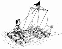 Perahu layar deperbuat daripada tong minyak