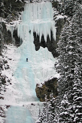 Climbing a Waterfall (laszlo-photo) Tags: winter canada ice frozen waterfall missionimpossible lakelouise climbers banffnationalpark frozenwaterfall iceformation