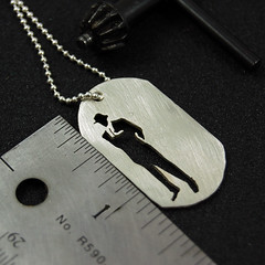 Business Man Cool Army Tag by Markhed (Markhed) Tags: dog man fashion silhouette silver army necklace dad tag father jewelry business suit sterling mad unisex pendant geekery 925 agteam