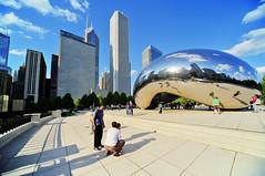 Chicago's fresh pride - The Steel Bean (Tony Shi Photos) Tags: park cloud chicago art public architecture photo gate jay steel center bean millennium pavilion aon hdr pritzker      nikond700   tonyshi