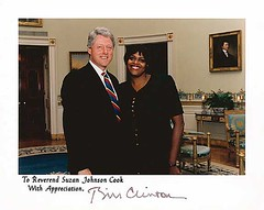 Reverend Dr. Suzan Johnson Cook with President Bill Clinton