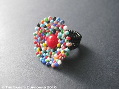 Kaleidoscope Clown Ring by The Sage's Cupboard