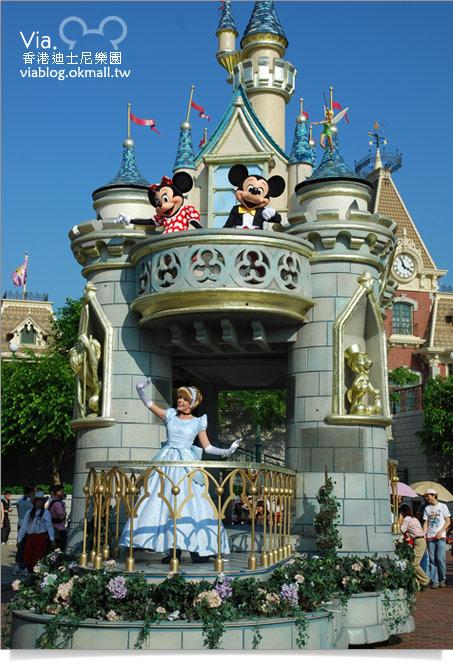 【香港迪士尼】跟著via玩香港(3)~迪士尼卡通人物歡樂巡遊