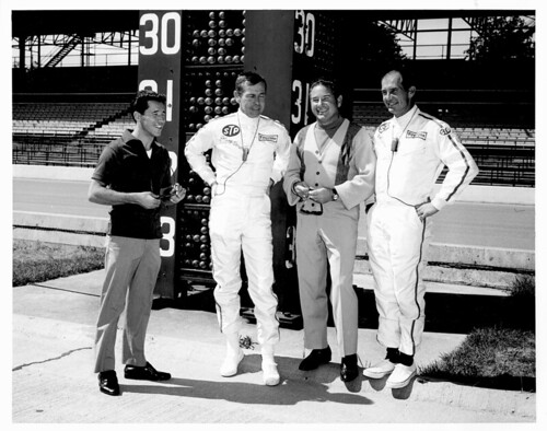 1967 - Johnny Carson with Mario Andretti, Roger Ward, Parnelli Jones