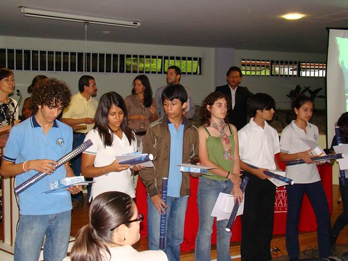 Estudiantes ganadores del certamen