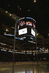 At Ice Level (the_mel) Tags: hockey minnesota nhl stpaul minneapolis twincities scoreboard minnesotawild chicagoblackhawks xcelenergycenter
