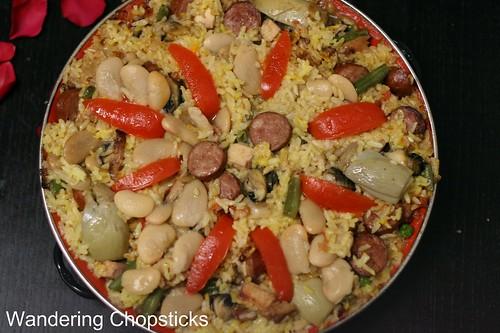Paella Valenciana (Spanish Valencian Pan Rice) 15