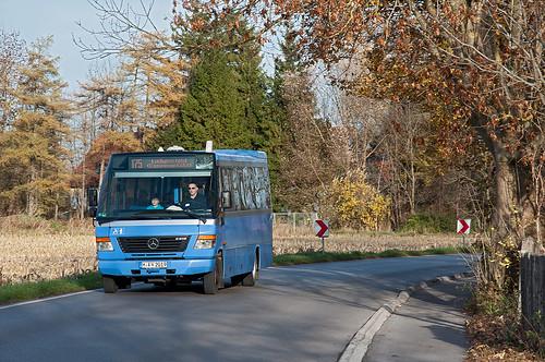 Nach nur sechs Minuten Fahrzeit wird der Kleinbus seine Endhaltestelle erreichen