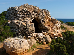 Stone Age dwelling on Menorca. . . (Bn) Tags: spain farmers lagoon unesco oxygen biospherereserve breeding coastline shelter shag menorca shags mediterraneansea seabirds clearwater stoneage minorca deepblue dwelling balearicislands bluesea balearics rockycoastline palebluesky deepbluesea calanbosch arabinfluence calaenbosch sonxoriguer mediterraneanlandscape naturalenvironments rockyoutcrops crystalbluesea rurallocation camidecavalls untouchedbeaches turquoisebluewater caminosnaturales semicircularbay cormorantfamily geomenorca nestingontherocks aerobicdiving jumpoutofthewater smallcaves serenebluewater tranquilunspoiltplace shelteredcoves gr223 stoneagebuildings roundstoneconstruction stoneageburialmonument localstones weddingcakedwelling tiereddesign crystalclearblue unspoiledshores