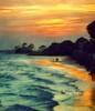 Take the Sunset Rd. to far-far away (Ekler) Tags: ocean travel sunset summer vacation art beach nature water season walking landscape outdoors pier photo bright walk vivid atlantic scenary effect svetlana stsimons fiery orton texure reflecton stowers peaople waive soloha