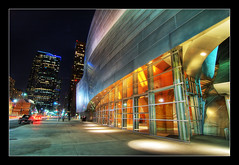 Transparency and Reflections @ Night (Herman Au - http://www.hermanau.com) Tags: city night la hall losangeles los high concert downtown angeles disney walt range hdr highdynamicrange disneyconcerthall flickrsbest diamondclassphotographer dnyamic hermanauphotography