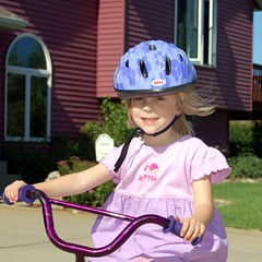 Sydney LOVES her bike!