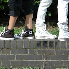 Converse Black and White Hi