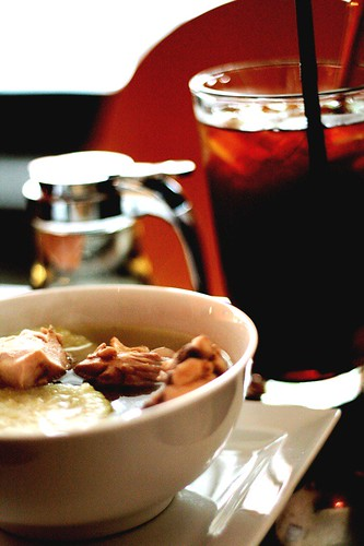 Southeast Asian Iced Tea, Chicken Broth by Dennis Chong Weng Kee