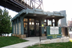 NYC - Roosevelt Island - Roosevelt Island Historical Society Visitor Center (wallyg) Tags: nyc newyorkcity ny newyork manhattan kiosk gothamist rooseveltisland visitorcenter blackwellsisland welfareisland trolleykiosk rooseveltislandhistoricalsocietyvisitorcenter rooseveltislandhistoricalsociety