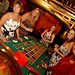 Sandy Snead, Katherine Pence, Becky Myers, Elizabeth Tocartnick and Karen Walker at the roulette wheel. Photo by Ash Daniel.