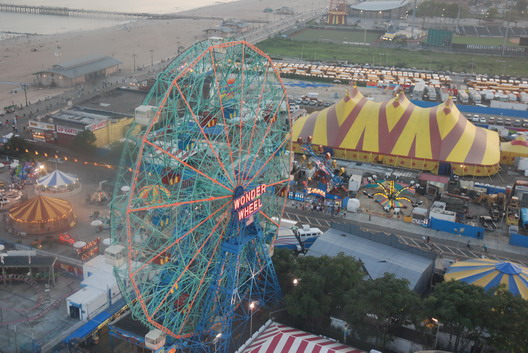 Wonder Wheel and Circus Tent