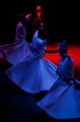 Whirling dervishes (Lil [Kristen Elsby]) Tags: religious concert movement muslim performance sydney ceremony australia skirt spinning townhall rotation sema sufi sufism turkish headdress rumi whirling australasia whirlingdervish oceania mevlevi whirlingdervishes sydneytownhall sufiwhirling sufispinning