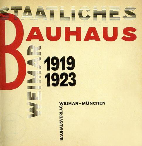 Portada del Staatliches Bauhaus Weimar 1919-1923