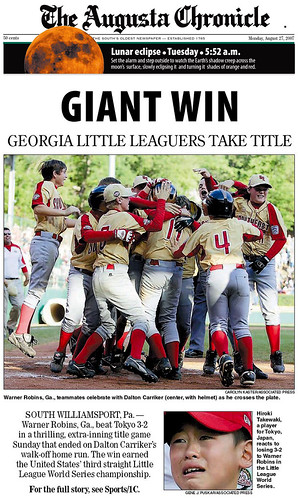 070827_01_Augusta_Georgia_Chronicle_LLWS_Front_Page