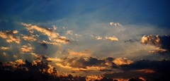 Cloud Monster (swilton) Tags: sunset toronto ontario canada monster clouds photoshop nikon stitch deck d40x 55200mmvr photofaceoffwinner msh0907 msh090712 pfogold