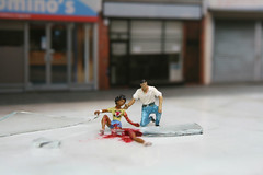 Shes got a leg off! (slinkachu) Tags: street people art norway little nuart slinkachu
