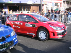 Sebastien Loeb's Citroen at the Start