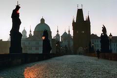 Czech Republic - Prague - Charles Bridge at sunrise (Darrell Godliman) Tags: travel copyright travelling tourism sunrise dawn prague praha landmark czechrepublic charlesbridge allrightsreserved karluvmost travelphotography instantfave omot travelphotographer flickrelite dgphotos darrellgodliman wwwdgphotoscouk dgodliman