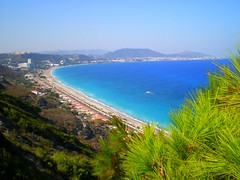 Ixia - Rhodes Greece (pantherinia_hd Anna A.) Tags: blue sea green beach island mediterranean view aegean greece rhodes       excellentphotographerawards   vanagram