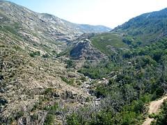 Le parcours du canyon au départ du Ziocu (Zoicu?) en région du Liamone